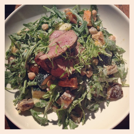 Roasted Mediterranean Vegetable Salad with Lamb