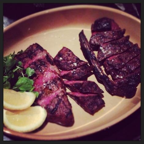 Mixed steak platter