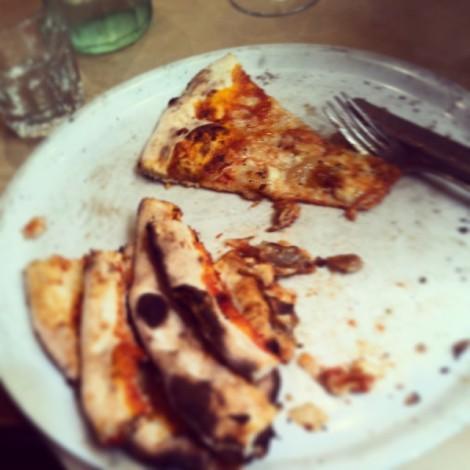 Eating Huntsman pizza at Fourth Village Mosman