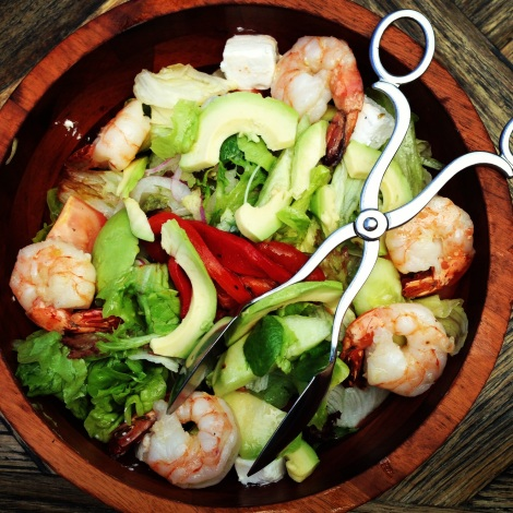 Mediterranean salad with prawn and avocado at Criniti's Darling Harbour