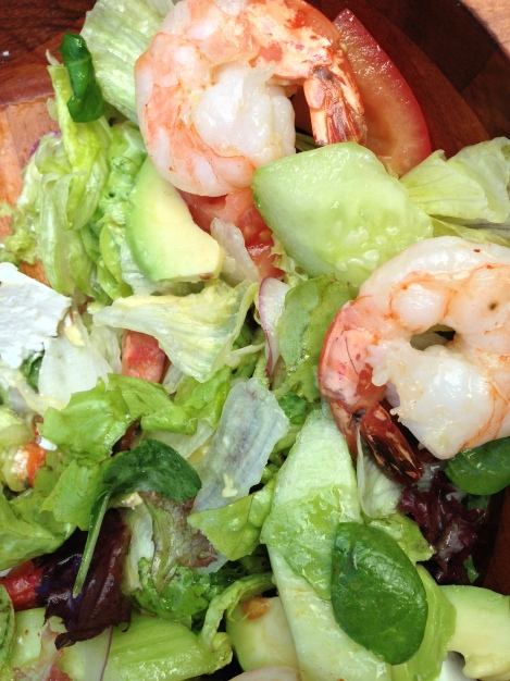 Mediterranean salad with prawn and avocado at Criniti's Sydney
