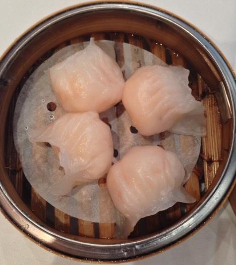 Prawn dumplings at Palace Chinese Restaurant Sydney