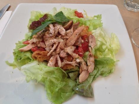 Panzanella e pollo salad at the Fourth Village Providore restaurant Mosman