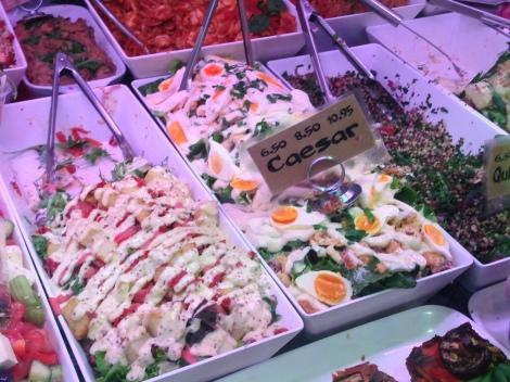 Salads at the deli at Fourth Village Providore in Mosman