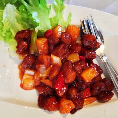 Sweet and sour pork at Fat Buddha