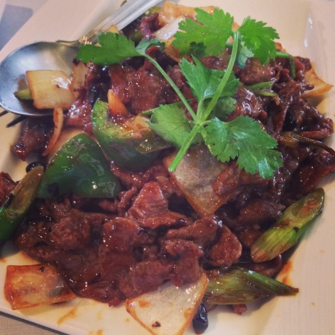 Beef in Black Bean Sauce at Fat Buddha