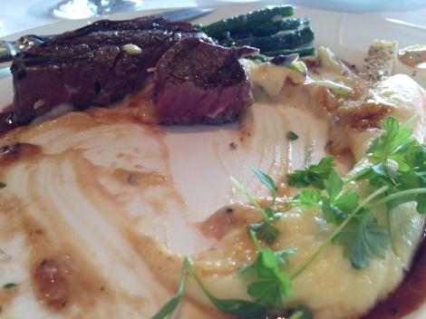 Beef tenderloin at The Dining Room Park Hyatt Sydney