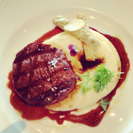 Beef tenderloin with potato puree and truffle jus at The Dining Room Park Hyatt Sydney