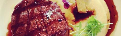 Beef tenderloin with potato puree and truffle jus at The Dining Room Park Hyatt Sydney