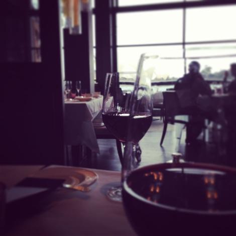 Red wine at The Dining Room Park Hyatt Sydney