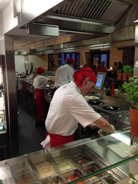 Cooking at Vapiano Sydney