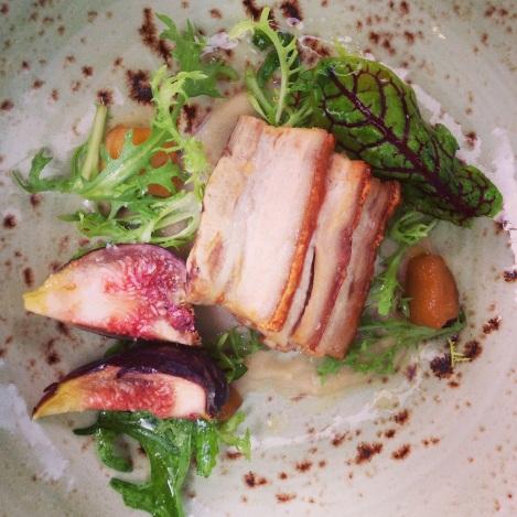 Crispy pork belly entree at Cafe Sydney