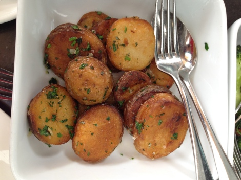 Duck fat roasted potatoes at Cafe Sydney