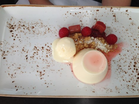 Panna cotta dessert at Cafe Sydney