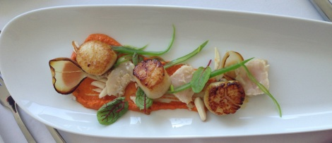 Scallops starter at O Bar Sydney