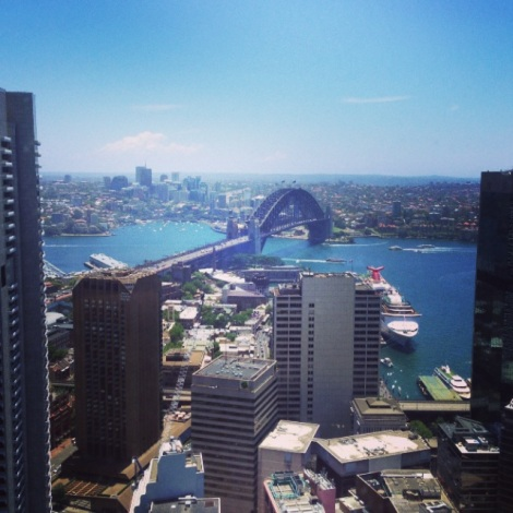 The view at O Bar Sydney
