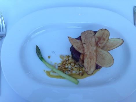 Beef tenderloin for lunch at Aqua Sydney