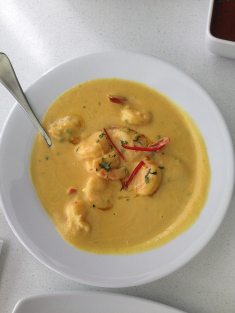 Prawn Chingri Malai curry at Zaaffran