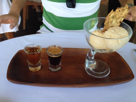 Affogato at Leaves and Fishes Hunter Valley