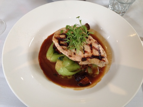 Chicken breast main at 221 Restaurant The Royal Oak Cessnock