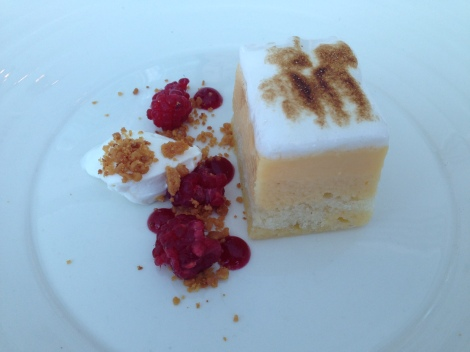 Lemon dessert for lunch at Aqua Milsons Point Sydney