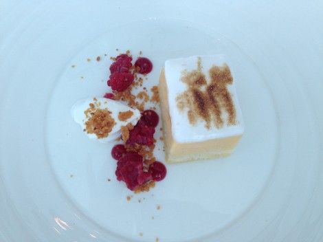 Lemon dessert for lunch at Aqua Sydney