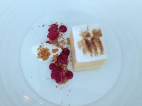 Lemon dessert for lunch at Aqua Sydney
