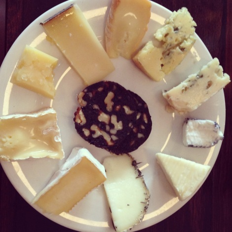 Plate of cheese at The Australian Sydney