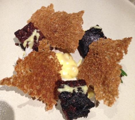 Black pudding starter at Swine and Co Sydney