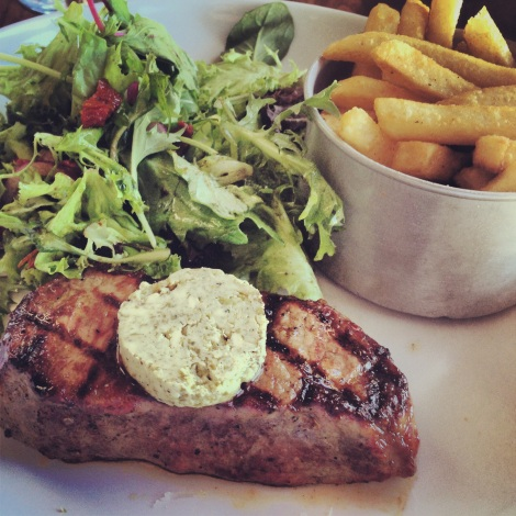 Steak frites at The Pantry in Manly