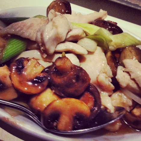 Chicken with mushroom and spring onion Imperial China Chinese Lyndhurst