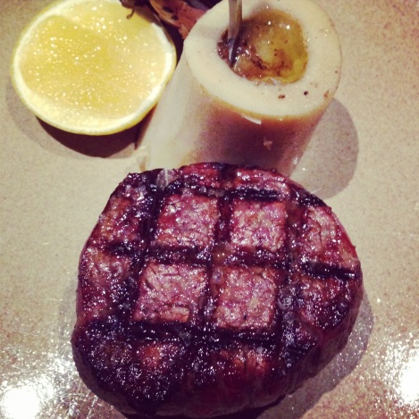 Fillet steak with bone marrow at Swine and Co Sydney